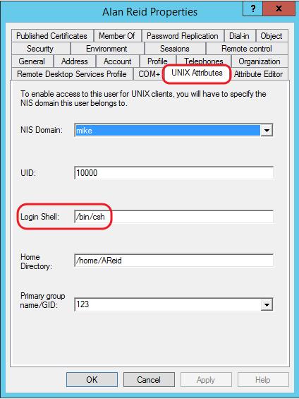 enable Unix ID 2