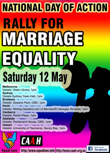 National Day of Action - Rally for Marriage Equality - Saturday May 12 2012