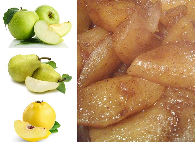 warm winter fruit recipe