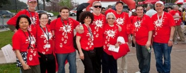 Team Mikey at the Walk of Life