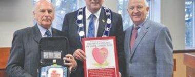 defibrilator donation