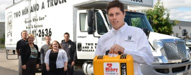 TWO MEN AND A TRUCK first in St. Catharines – Niagara Region to Install Mikey on Board Defibrillators