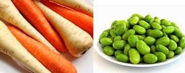 Carrot, Parsnip and Edamame Salad