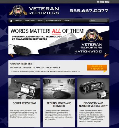 VR Website Screenshot