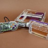 超キレイ!壊れたスーパーファミコンを使ってリメイクされた「透明」なスーパーファミコン