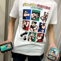 今日のゲームTシャツ:ファミカセ型キーチェーンつき!ファッションセンターしまむらの『ダウンタウン熱血行進曲』Tシャツ