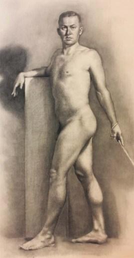 figure drawing (2016) Carbon pencil, 18x24