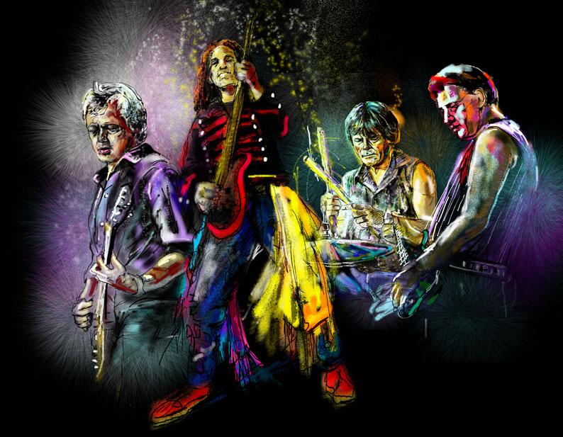 Groupes De Musiciens En Peinture Par Miki De Goodaboom