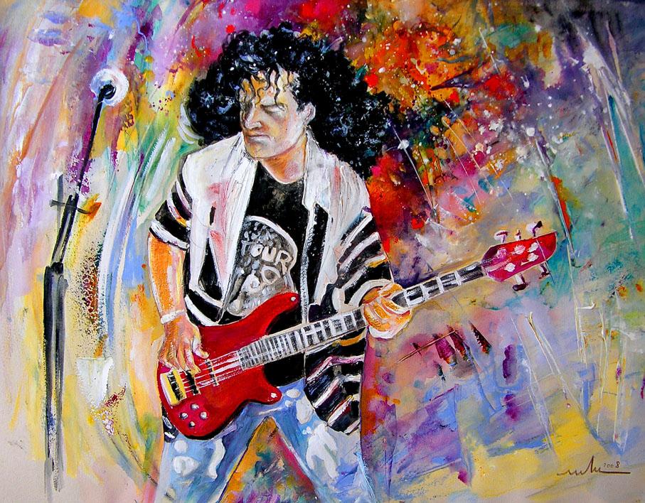 Les Guitaristes En Peinture Par La Peintre Miki De Goodaboom