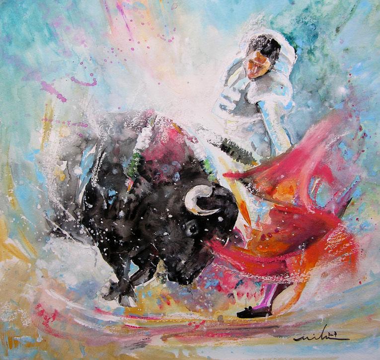 La Corrida En Peinture Tableaux De Tauromachie Par Miki