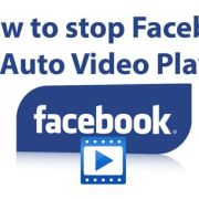 stop Facebook auto video play
