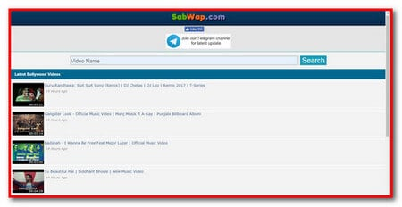 video search and download wapsite