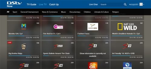 DStv Now Live TV apps channel