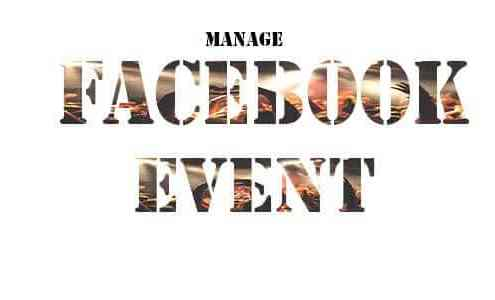Manage facebook event