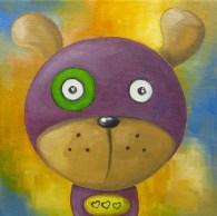 Purple Dog, Oil on canvas, 20x20 cm