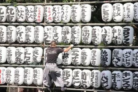 Cenas do templo Senso-ji