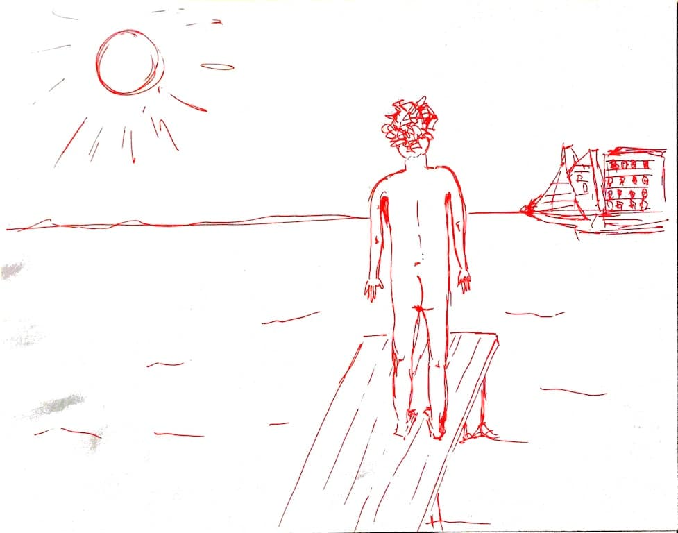 mindre nervøs – den nøgne mand og havet