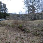 Borgmuren sett fra borggården