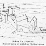 Arkitekt Sinding-Larsens rekonstruksjon fra 1924-25.