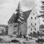 Tegning fra midten av 1800-tallet.