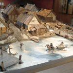 En modell på museet på Birka.