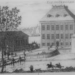 Fra et kobberstikk fra 1707 av Johannes van den Aveelen, fra oppslag på stedet.