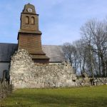 Litt av klosterkirkens langhus.
