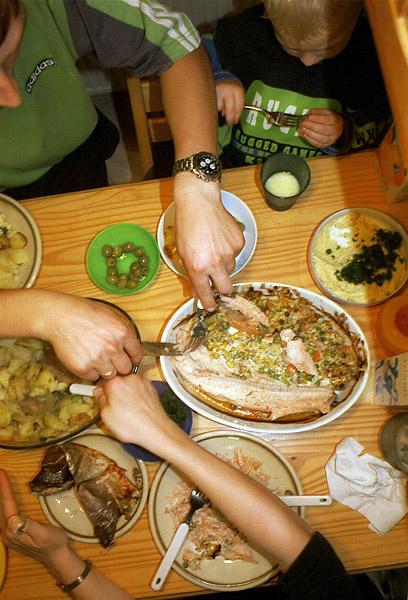 Suburbia - family dinner