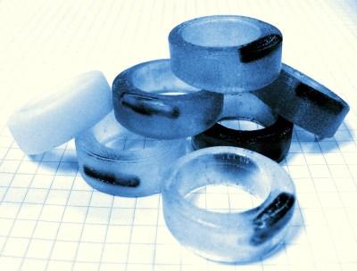A pile of RFID Rings