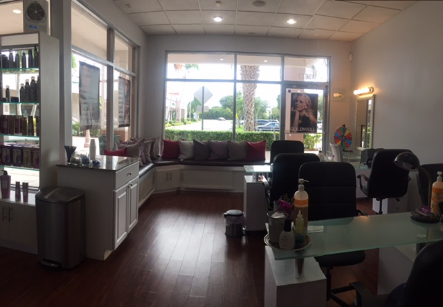 Miko & Co. Salon and Spa manicure stations and lounge