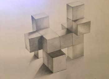 Dessin of styrofoam blocks