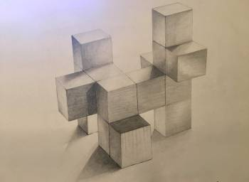 Dessin of styrofoam blocks