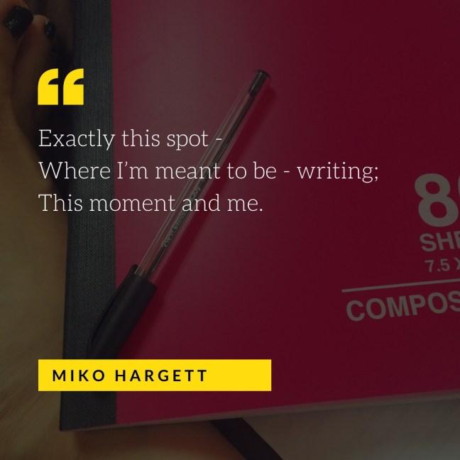 Selfie - pen, notebook, foot #amwriting