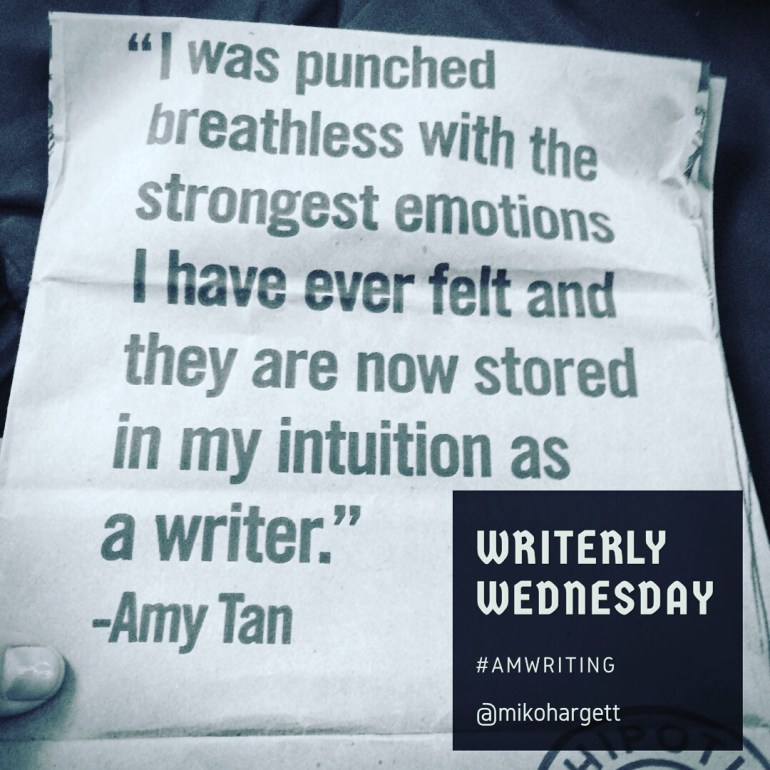 "I was punched breathless with the strongest emotions I have ever felt and they are now stored in my intuition as a writer. "" - Amy Tan"