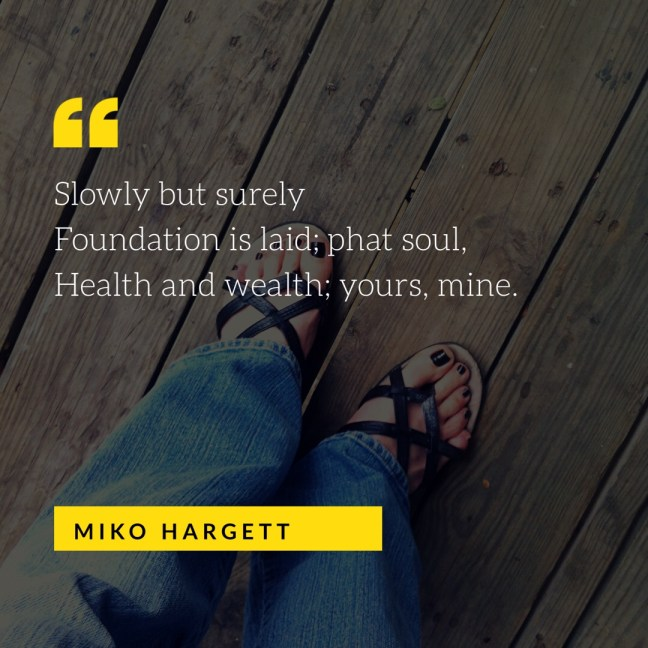 Feet selfie in sandals with jeans - Health and wealth; yours, mine.
