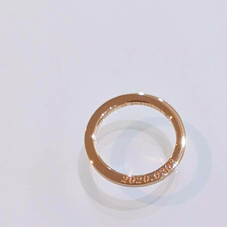婚約指輪の刻印