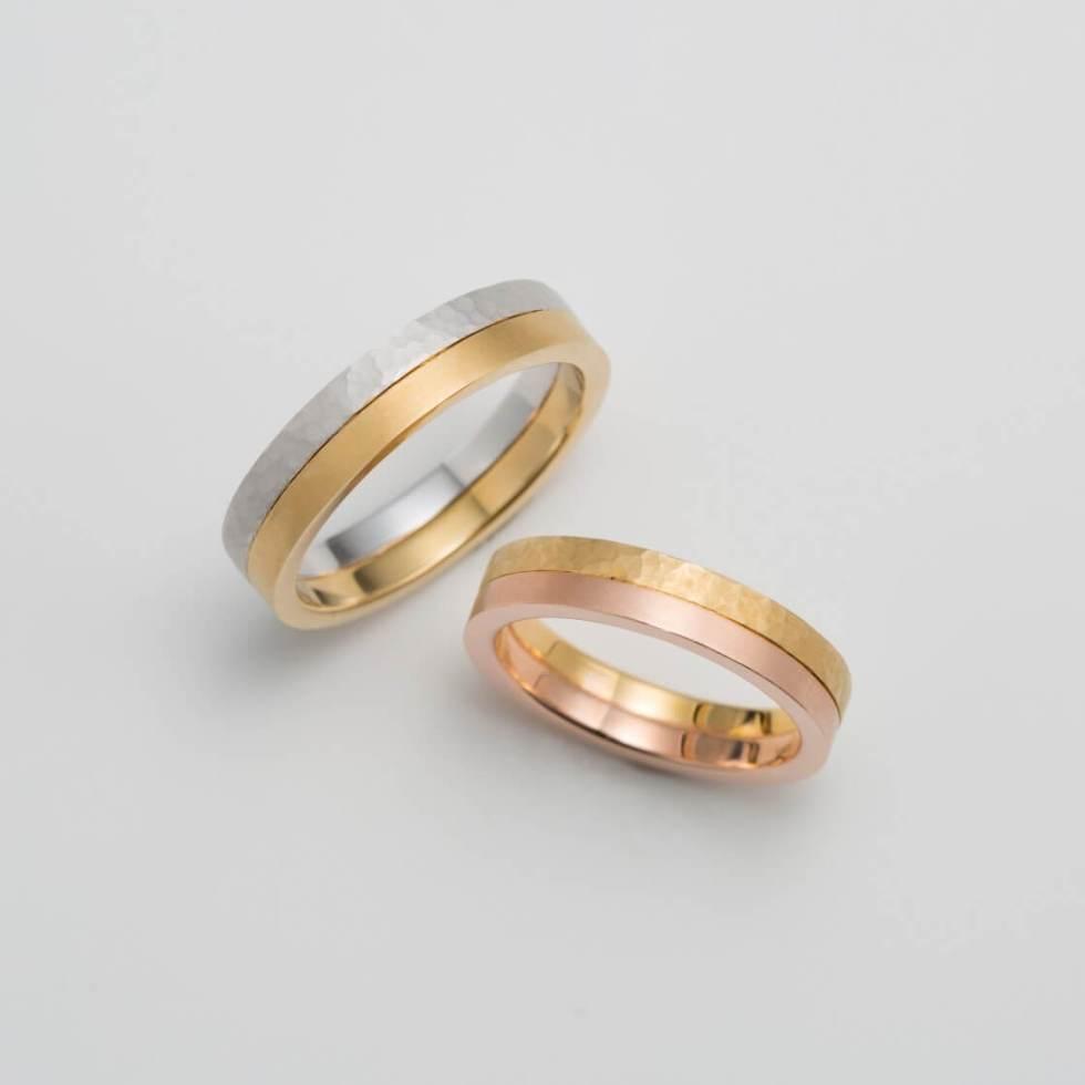 2連のコンビの結婚指輪