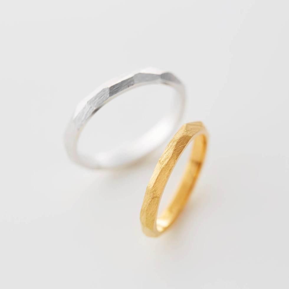多面フォルムの結婚指輪