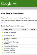 Google Ads Products Status Dashboard