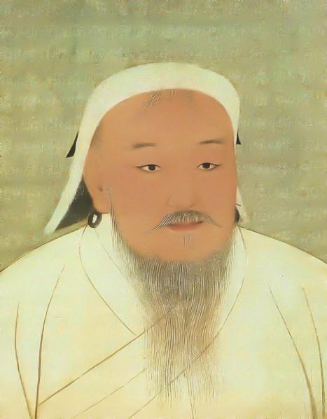 Porträt von Dschingis Khan (Dschingis Khan und seine Erben (exhibition catalogue), München 2005, p. 304 Foto: gemeinfrei)
