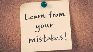 õpi oma vigadest
