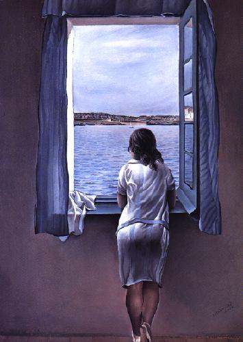 Girl in window..