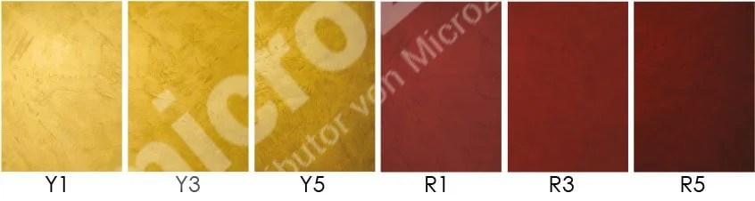 Mikrozement Verhältnis pigmentgelb