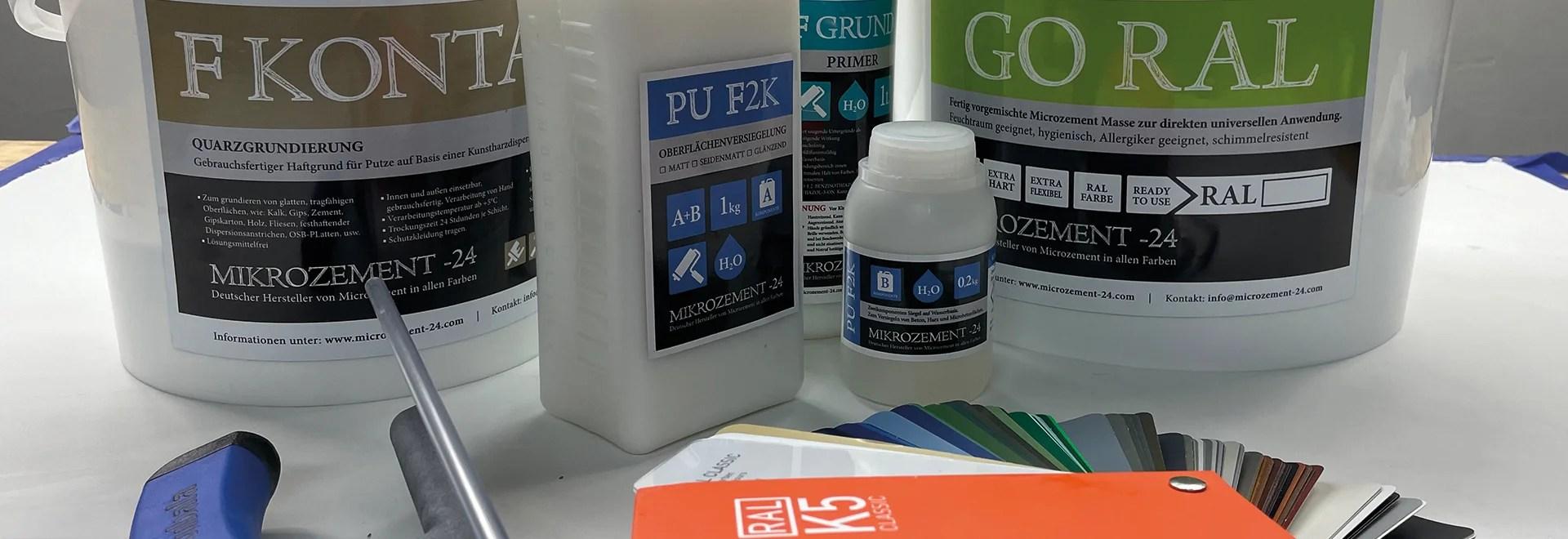 Mikrozement_Microzement GORAL Angebot farbiges BAD DUSCHE BODEN WAND