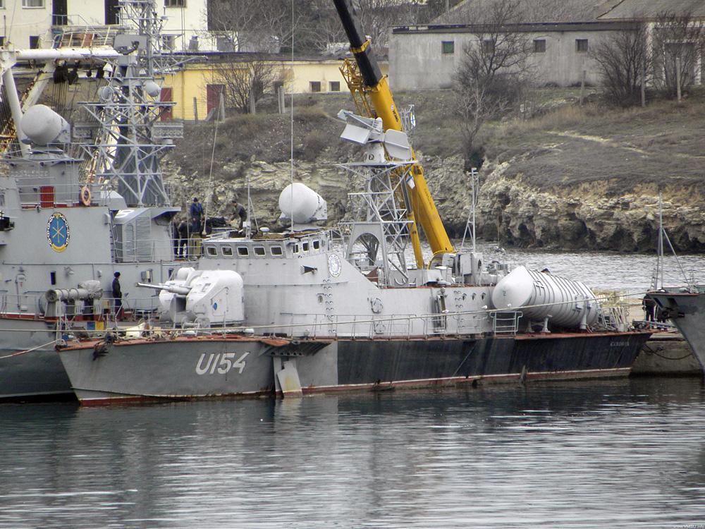 """Виведення U-154 """"Каховка"""" з ВМСУ"""