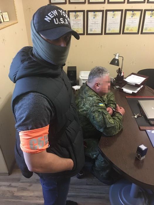 СБУ затримала на хабарі начальника однієї з клінік Головного військово-медичного госпіталю Міністерства оборони