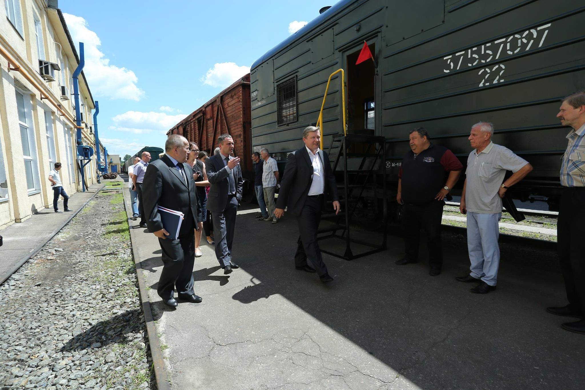 Укрзалізниця продемонструвала модернізований вагон для військової варти