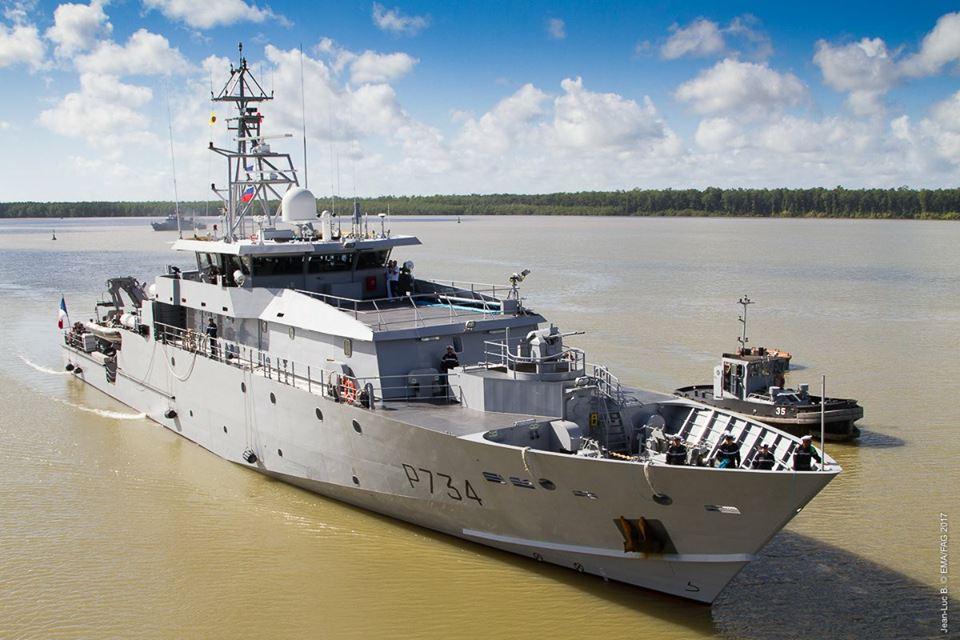 Французькі ВМС отримали другий патрульний корабель класу La Confiance у Французькій Гвіані