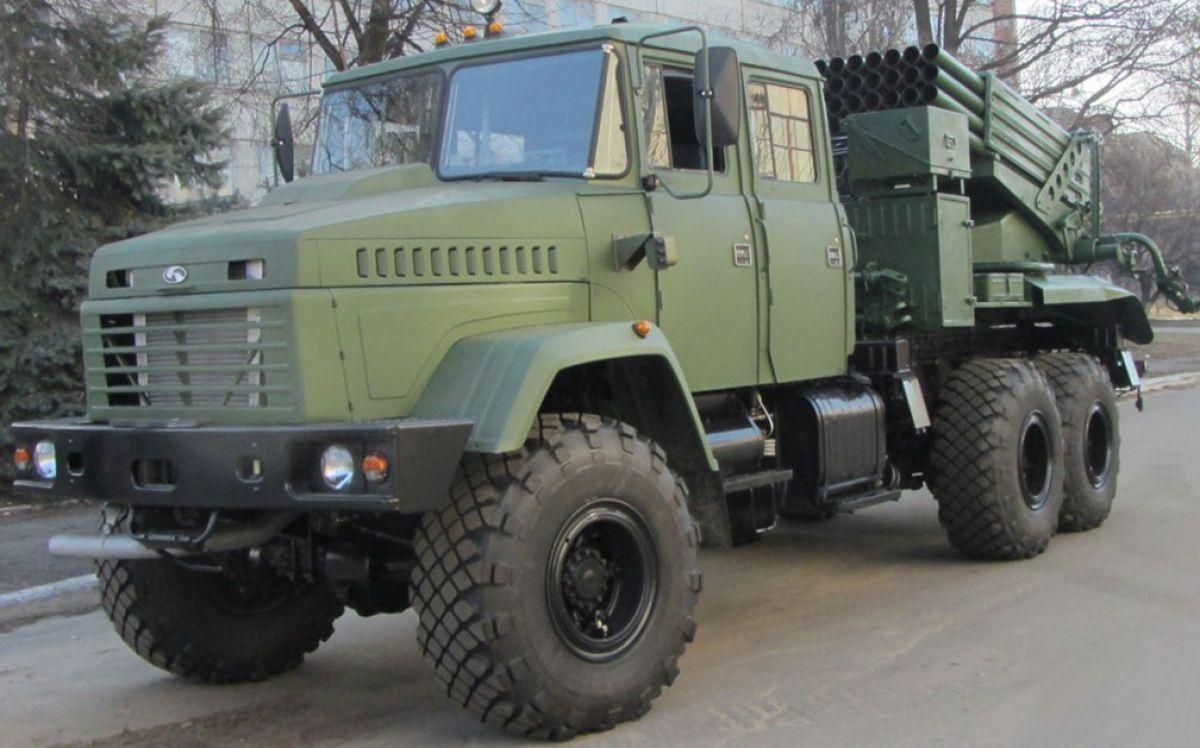 """До Дня ракетних військ та артилерії було продемонстровано РСЗВ """"Верба"""" та транспортно-заряджаючу машину до неї"""