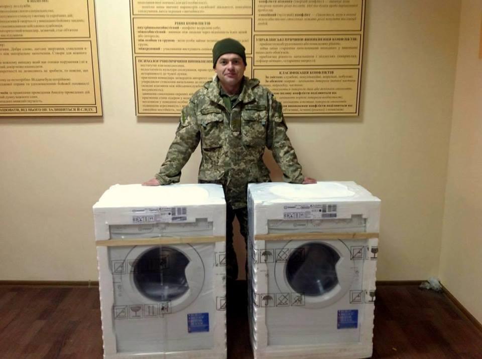 Звіт по передачі двох пральних машин для Центру підготовки сержантів ВМС